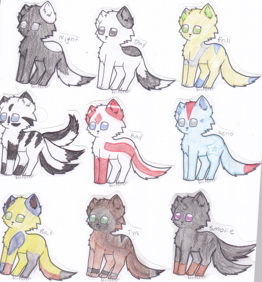 Wolf Characters Better Drawing 3 By Leafstep On DeviantArt