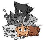 Kittens lineart