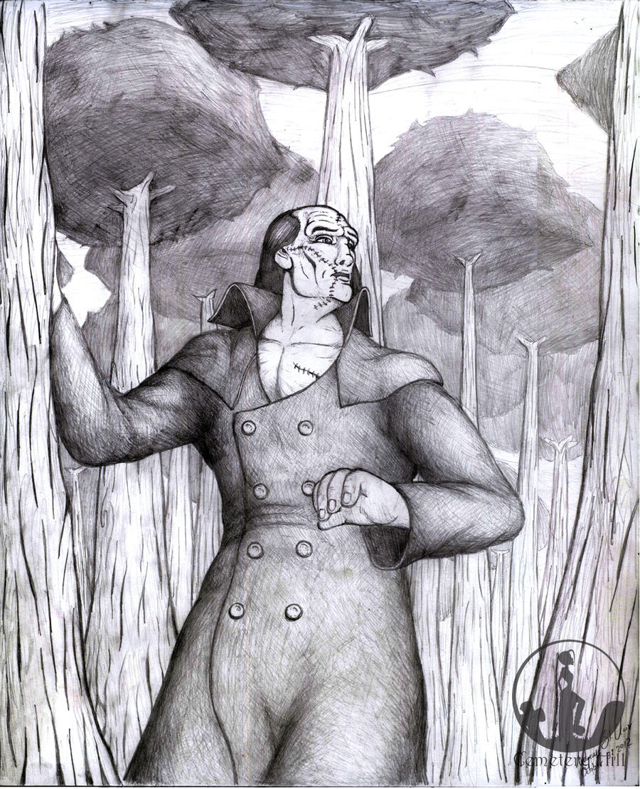 The Creature in the Forest by CemeteryHillArt