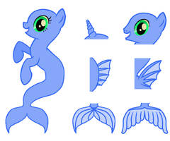 Merpony Bases - MS Paint (UPDATED)