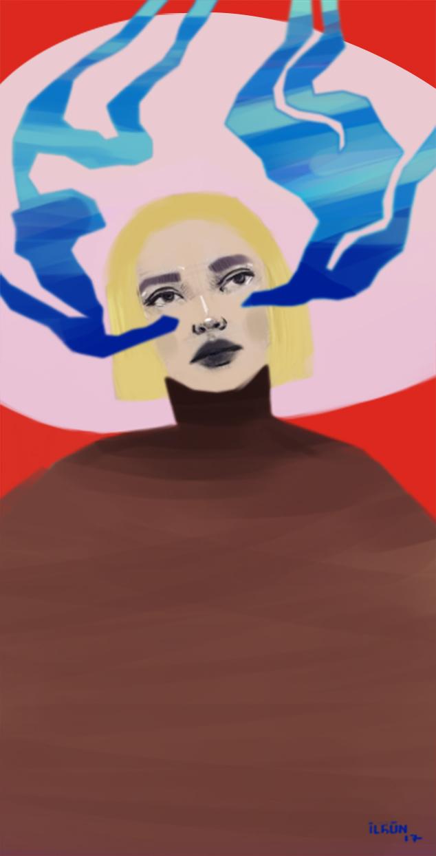 Blue Girl by simgeilgun