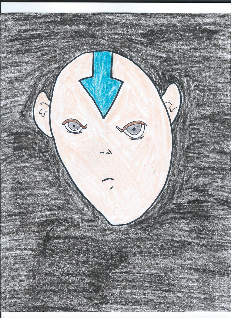 Aang Drawing by NickelodeonLover