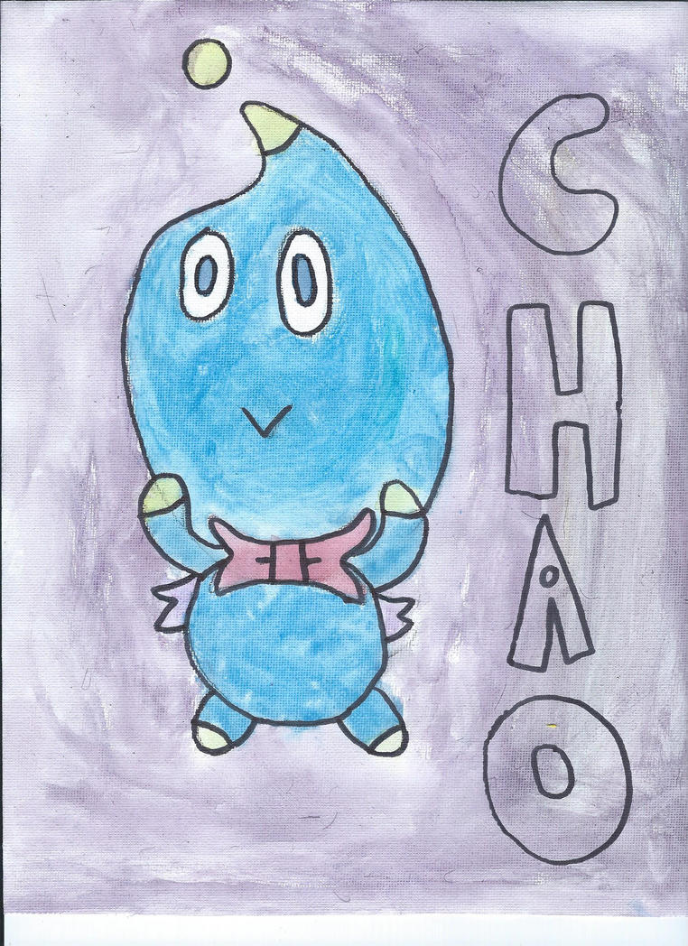Cheese The Chao Watercolor by NickelodeonLover