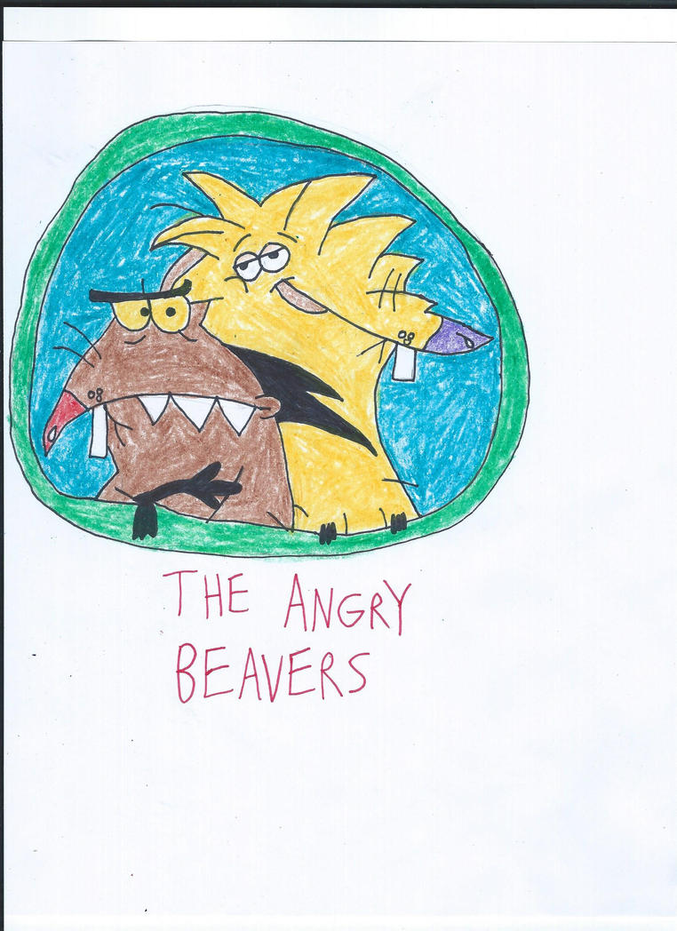 The Angry Beavers Drawing by NickelodeonLover