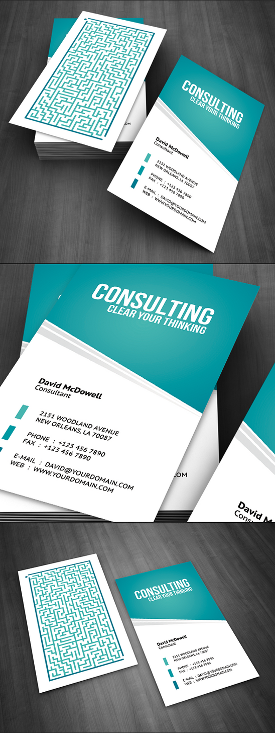 Consulting Business Card by FlowPixel on DeviantArt