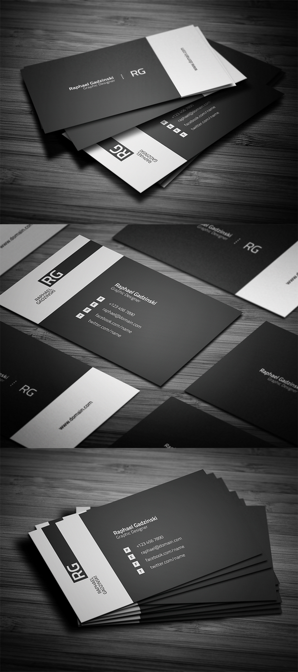 Simple V2 Business Card by FlowPixel on DeviantArt