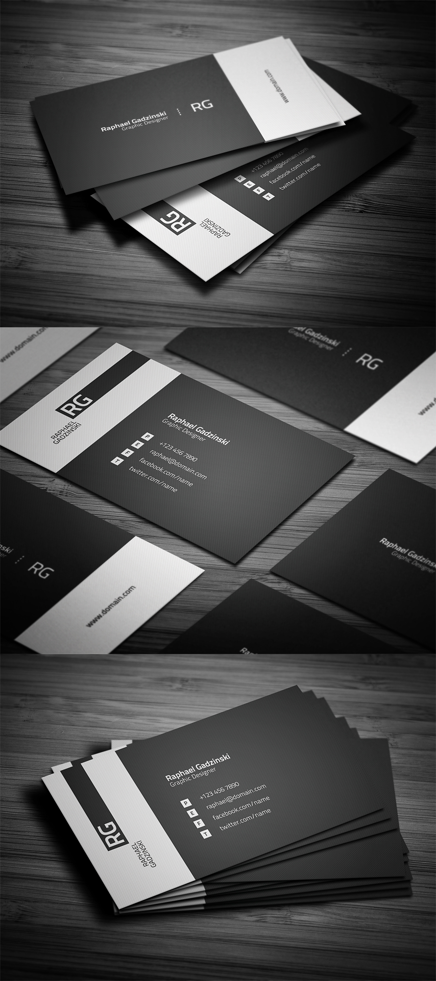 Simple V2 Business Card by FlowPixel