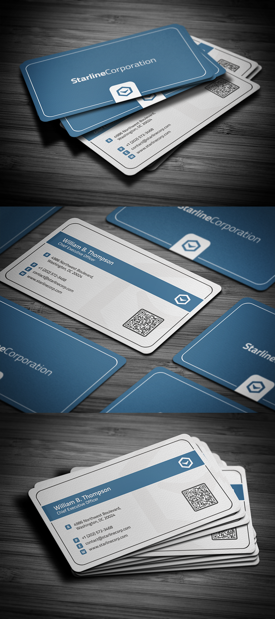 Smart Corporate Business Card by FlowPixel