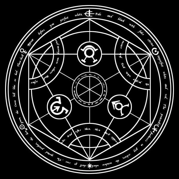Alchemy circle for life human transmutation circle by