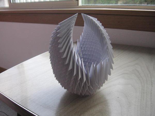 3d modular origami swan 3 by jiremi kun