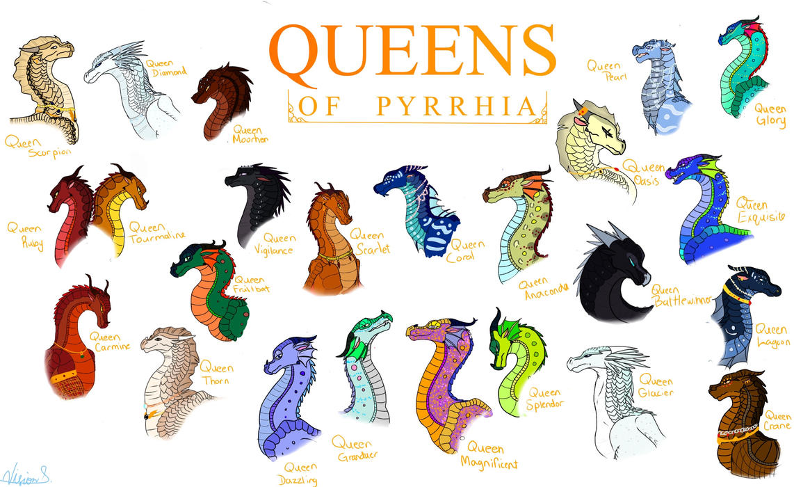 Ruling Royals  Queens Of Pyrrhia By Vision Seeker On