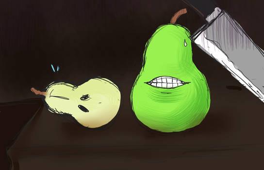 Cutting the pear