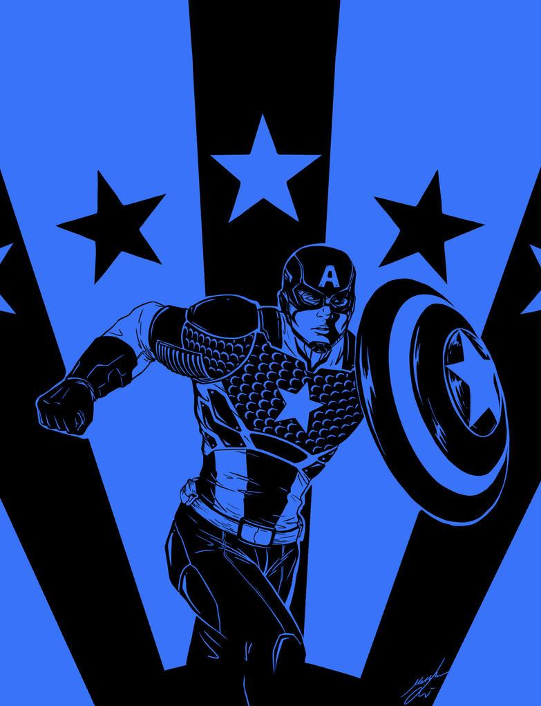 Captain America by Bya-Bya