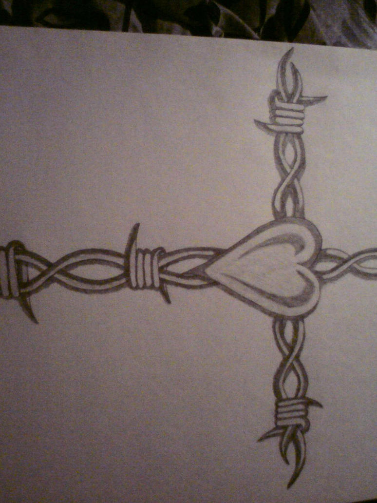 barbed wire heart by IceHunter90 on DeviantArt