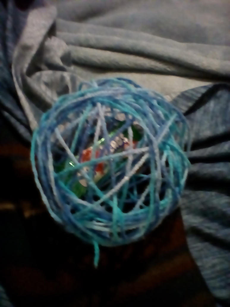 oh look! Weird easter egg...ball of yarn..thing... by thevexster2
