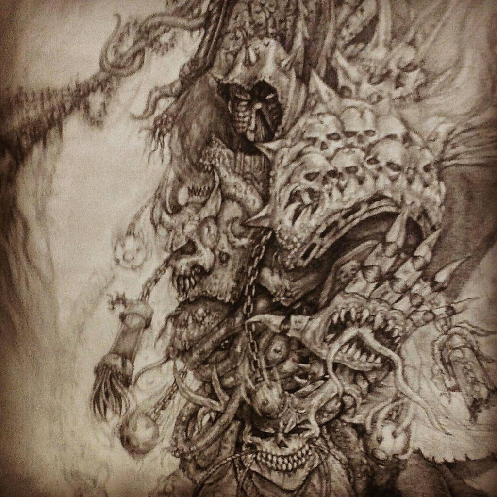 W.I.P. Daemon Prince Mortarion by imaan8298