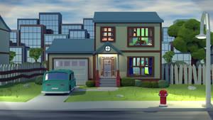 Suburban House by Obsidianmoon13