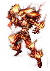Fire Elemental 600 by temesi