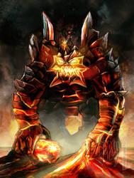 Lava Elementhal Golem