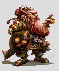 Dwarf Merchant Red Beard by temesi