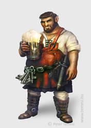 Half Orc Bartender Temesi by temesi