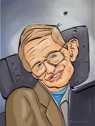 Stephen Hawking Caricature