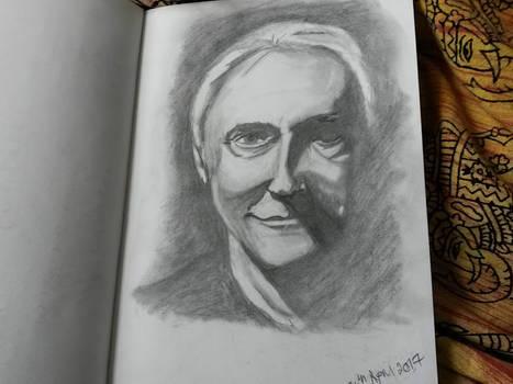 Brent Spiner pencil sketch