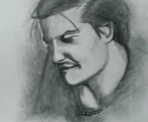 Mike Patton pencil sketch 2