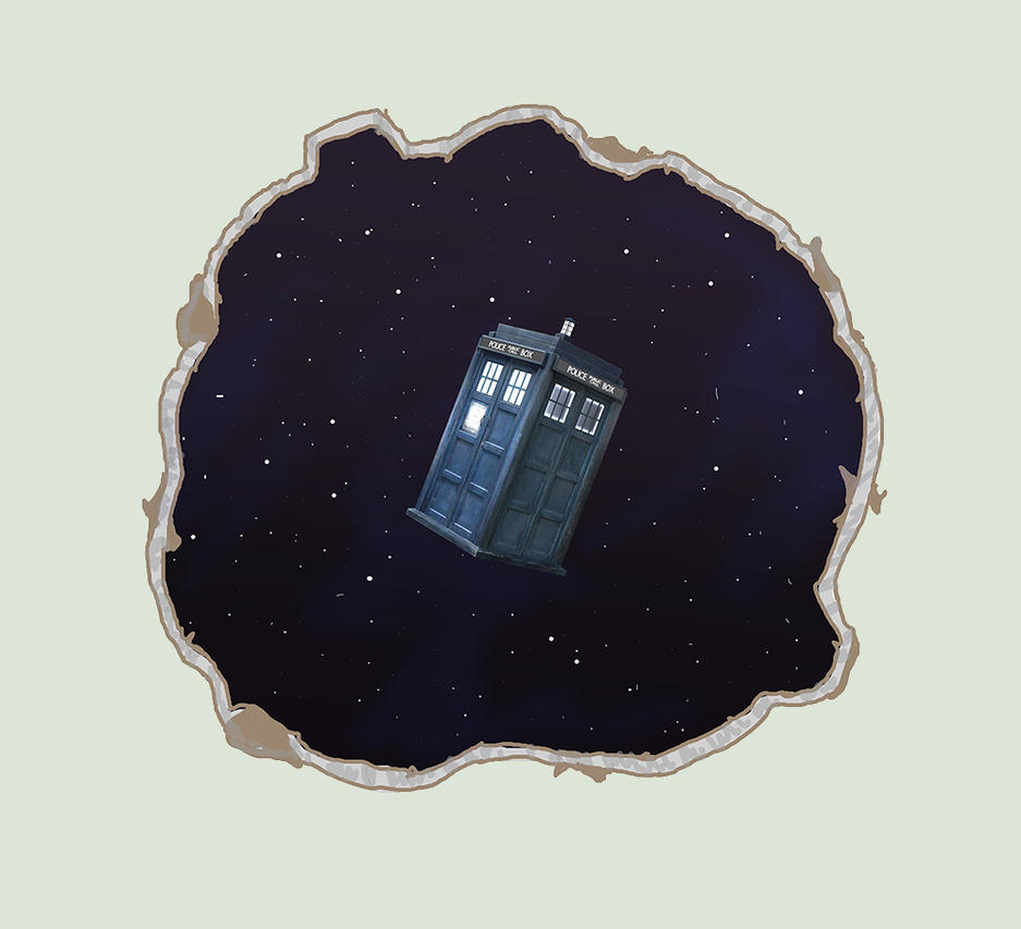 TARDIS Wall Mural Mock Up DA Version by ShadowMaginis on DeviantArt