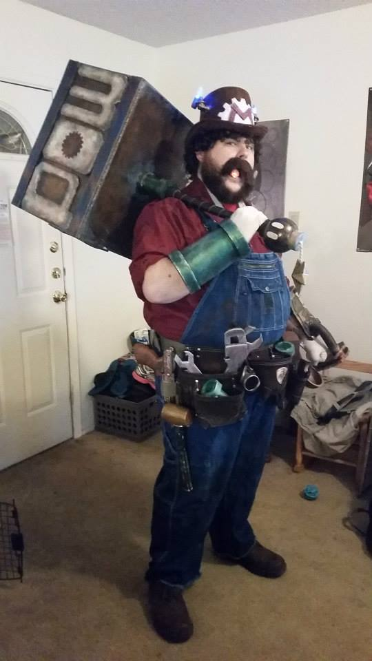Steampunk Mario by ShadowMaginis