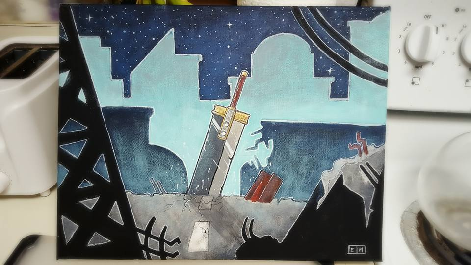 Buster Sword Painting by ShadowMaginis