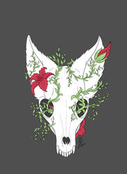 Fox Skull Wip by Rienquish