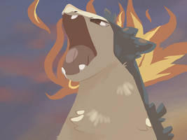 Typhlosion's Flames by TiffTheSpaceCat