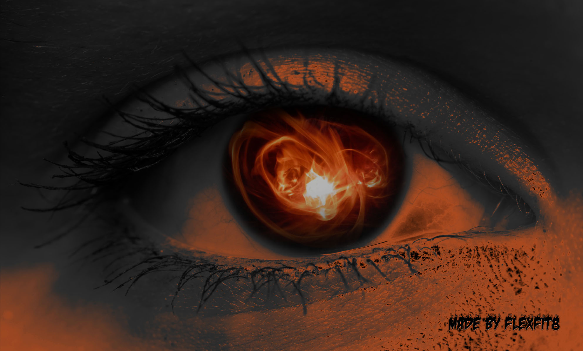 Создаём эффект светящихся глаз в Фотошоп 23