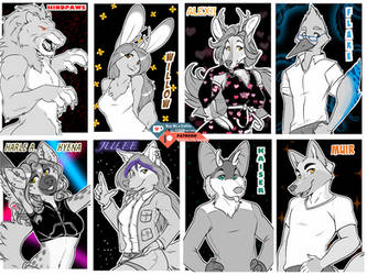 Large Badges by INKTigerArt