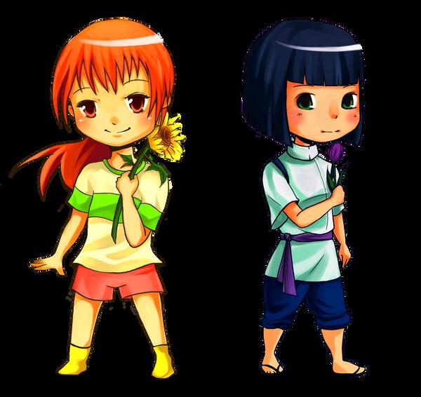 Chihiro and Haku by SpeedyDumpling