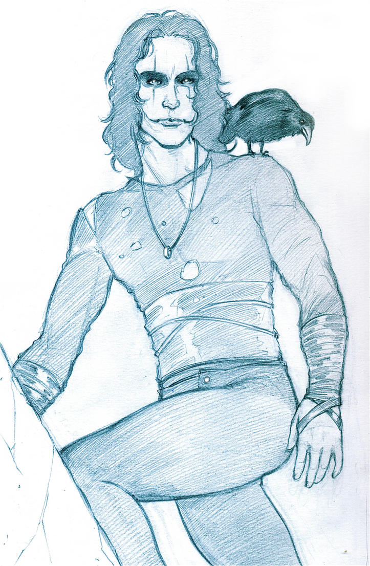 The Crow_Pencil by IpernovaOfMine