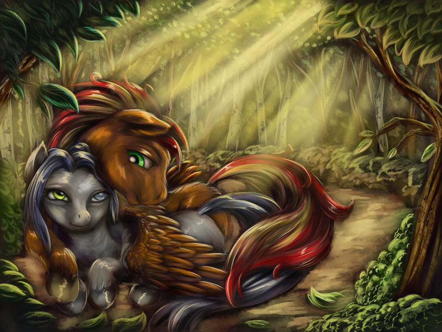 Forest Cuddle by viwrastupr
