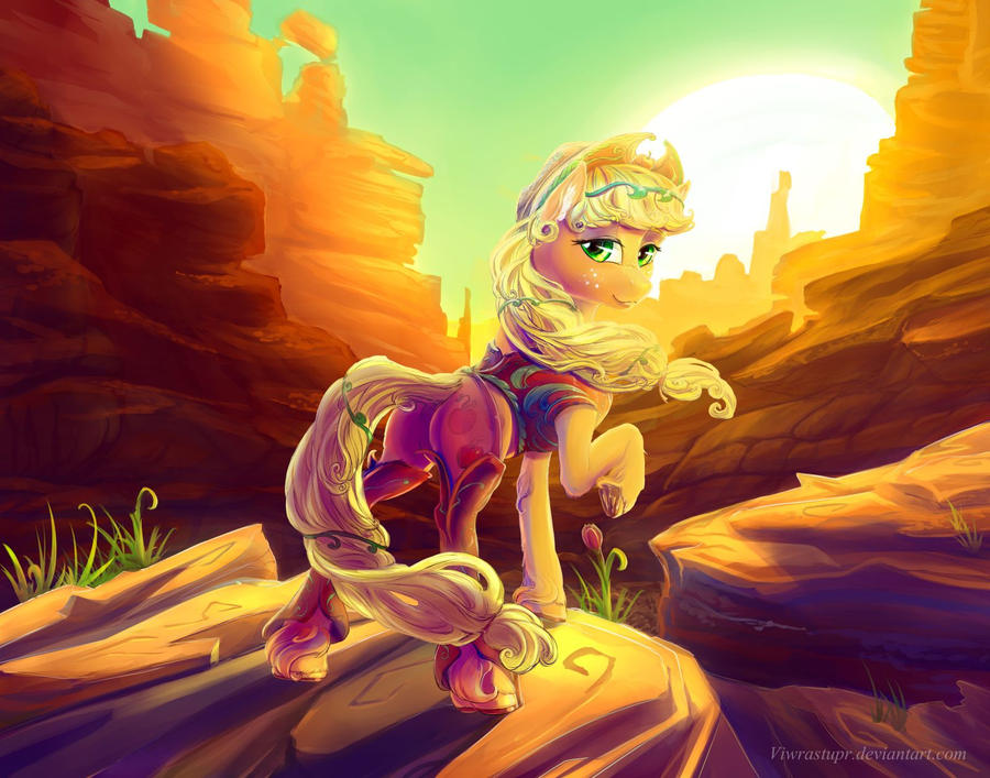 Cowpony Applejack by viwrastupr