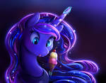Luna kills an ice cream.