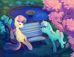 Lyra and Bonbon Close up