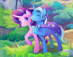 Starlight Glimmer and Trixie close up