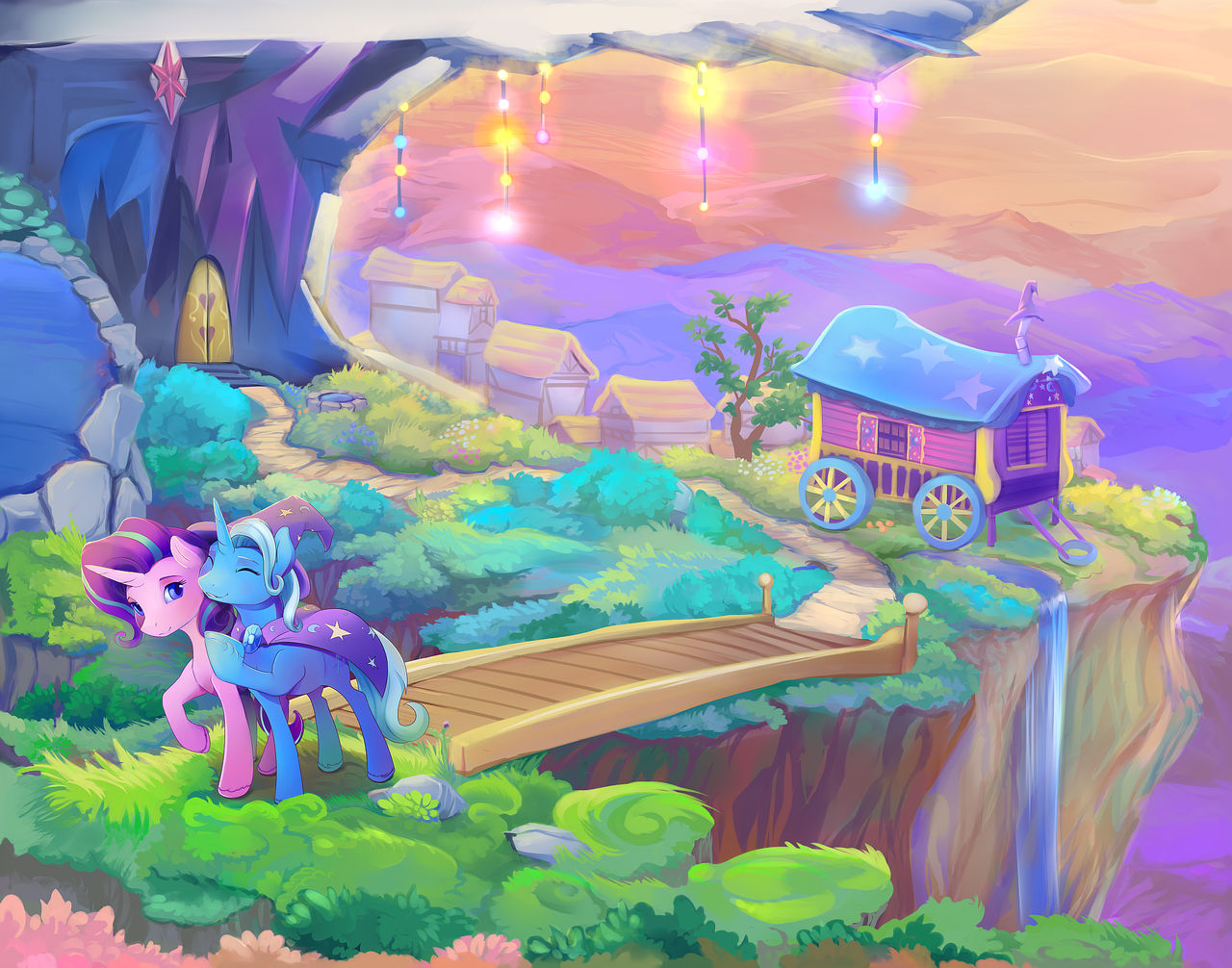 Starlight Glimmer and Trixie Full
