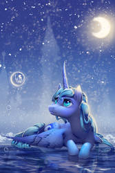Luna in the winter.
