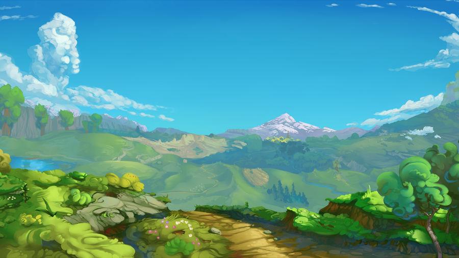 Green Background Landscape by viwrastupr