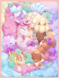 Floofy pokemon pile
