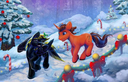 Christmas run through the snow