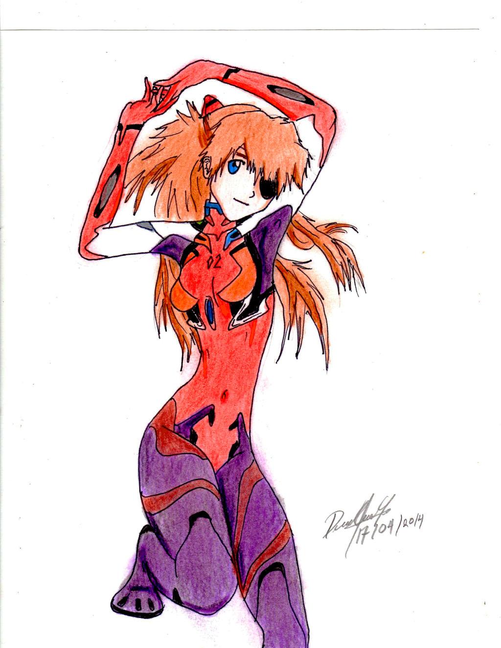 Asuka Langley Soryu (Evangelion 3.0) by danielcamilo