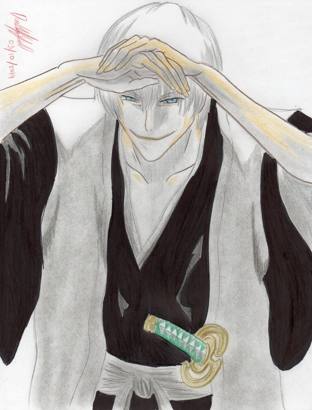 Gin Ichimaru (Bleach Cover Volume 20) by danielcamilo