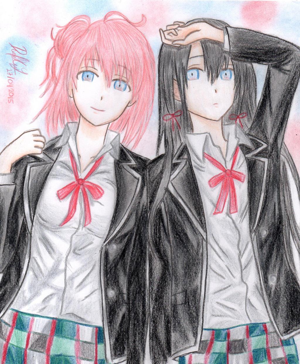 Yui and Yukino by danielcamilo